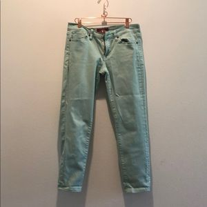 Lucky Brand mint jeans (worn once)